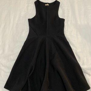Black ribbed skater dress from Hollister